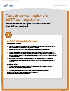 Cash Options for HiSET Test Takers Flyer