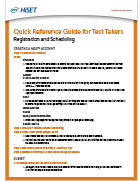 Reference Guide for Test Takers – Registration and Scheduling