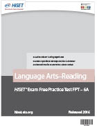 Language Arts – Reading Practice Test (FPT6A)