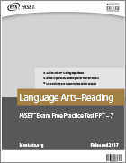 Language Arts - Reading Practice Test