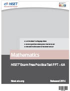Mathematics Practice Test (FPT6A)