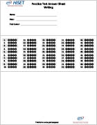 HiSET Practice Test Blank Answer Sheet for Writing